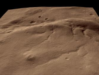 Perspective View of HiRISE First Image