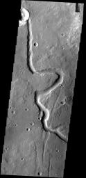 This small, unnamed channel is located in Arabia Terra