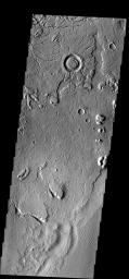 These arcuate fractures are located on the margin between Memnonia Fossae  and Elysium Planitia