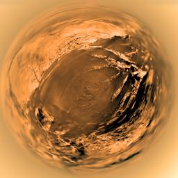 Fish-eye View of Titan's Surface