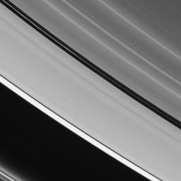 The two prominent dark gaps in Saturn's A ring contain small embedded moons and a host of other intriguing features