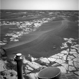This image was taken with Opportunity's navigation camera of a large dune on the way to