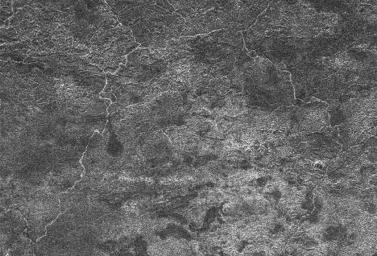 A network of river channels is located atop Xanadu, the continent-sized  region on Saturn's moon Titan. This radar image was captured by the  Cassini Radar Mapper on April 30, 2006