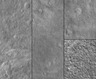 NASA's Mars Global Surveyor shows the landing site of Viking 2 in Utopia Planitia, west of Mie Crater on Mars on 3 September 1976.