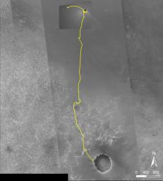 Opportunity Traverse Map, 'Eagle' to 'Victoria'