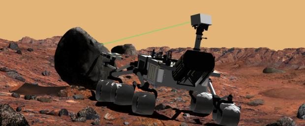 Mars Science Laboratory Using Laser Instrument, Artist's Concept