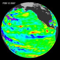 New data of sea-level heights from early February, 2007, by the Jason altimetric satellite show that the tropical Pacific Ocean has transitioned from a warm (El Niño) to a cool (La Niña) condition during the prior two months