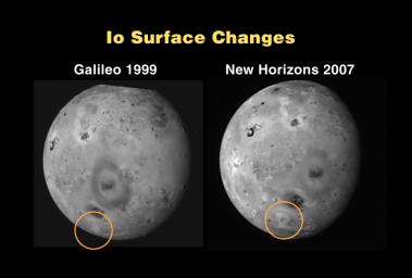 Io Surface Changes