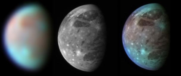 Ganymede in Visible and Infrared Light