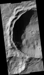 Rayed Gratteri Crater