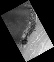 False Color Image of North Polar Layered Deposits in Head Scarp of Chasma 