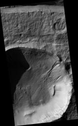 Gully Apron in Crater
