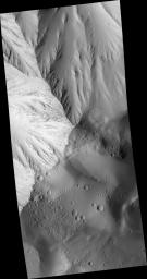 Layers in Olympus Mons Basal Scarp