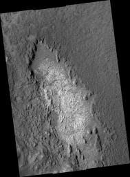 Light Outcrop on Crater Floor