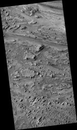 Swirls of Rock in Candor Chasma