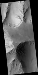 Layered Mesa in Coprates Chasma