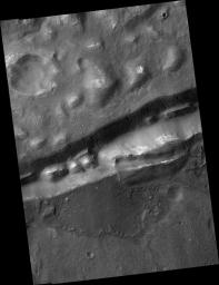 Gullies in Trough near Gorgonum Chaos