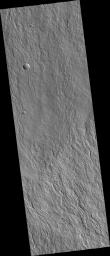Fans of Lava Flows on the Flanks of Olympus Mons