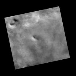 This view covers an area within the planned landing area for NASA's Phoenix Mars Lander. It was taken by the Context Camera on NASA's Mars Reconnaissance Orbiter.