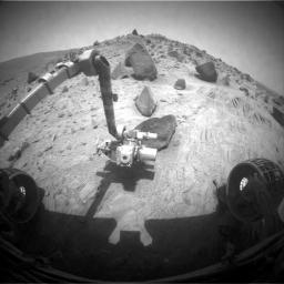 Spirit Begins Third Martian Year