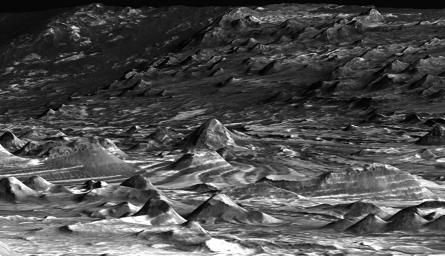 'Hilltop' View of the Terrain in Candor Chasma