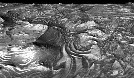 'Stair-Stepped' Terrain in Candor Chasma