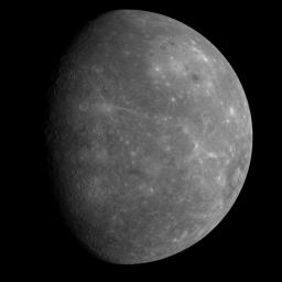 On January 14, 2008, NASA's MESSENGER spacecraft observed about half of the hemisphere missed by Mariner 10.