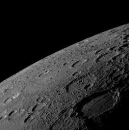 As NASA's MESSENGER spacecraft drew closer to Mercury for its historic first flyby, the spacecraft's Narrow Angle Camera (NAC) on the Mercury Dual Imaging System (MDIS) acquired an image mosaic of the sunlit portion of the planet.