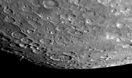 On January 14, 2008, NASA's MESSENGER spacecraft passed 200 kilometers (124 miles) above the surface of Mercury and snapped the first pictures of a side of Mercury not previously seen, with a view looking toward Mercury's south pole.