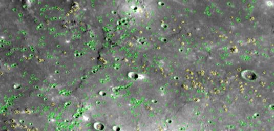 On January 14, 2008, NASA's MESSENGER flew by Mercury and snapped images of a large portion of the surface that had not been previously seen by spacecraft including numerous craters.