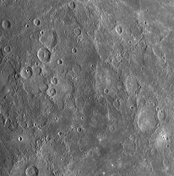 During NASA's MESSENGER spacecraft's flyby of Mercury on January 14, 2008, part of the planned sequence of observations included taking images of the same portion of Mercury's surface from five different viewing angles.