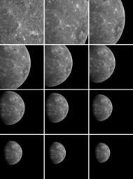After NASA's MESSENGER spacecraft completed its successful flyby of Mercury, the Narrow Angle Camera (NAC), part of the Mercury Dual Imaging System (MDIS), took these images of the receding planet.