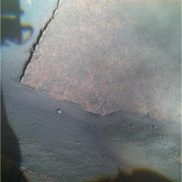 Opportunity View of 'Gilbert' Layer (False Color)