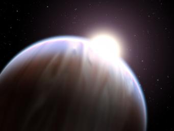 A team of astronomers has made the first detection ever of an organic molecule in the atmosphere of a Jupiter-sized planet orbiting another star. The breakthrough was made with NASA's Hubble Space Telescope.
