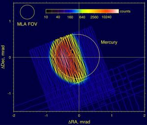 Mercury Laser Altimeter (MLA) Images Mercury from 4 Million Kilometers