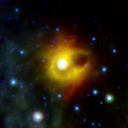 NASA's Spitzer Space Telescope imaged the mysterious ring around magnetar SGR 1900+14 in infrared light.
