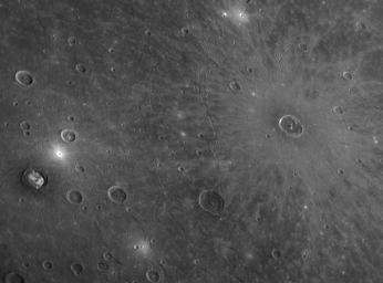 Young Cunningham Crater in Old Caloris Basin