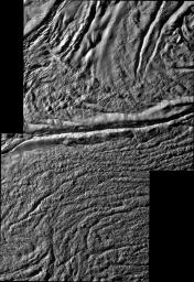 Damascus Sulcus on Enceladus