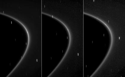Tiny Moonlet Within G Ring Arc