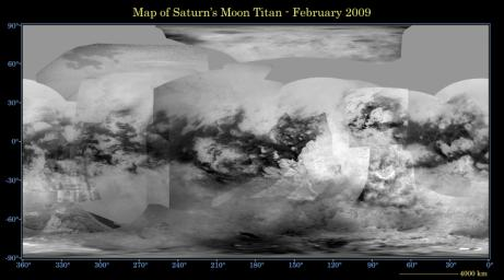 Map of Titan - February 2009