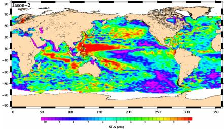 Newest Ocean-Observing Satellite Records Recent Sea Level Changes