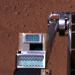 Robotic Arm Camera on Mars, with Lights Off