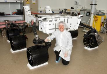 Wheels and Suspension on Mars Science Laboratory Rover