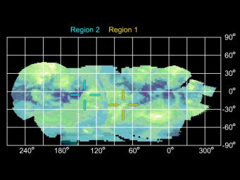 Infrared Map of Titan's Active Regions