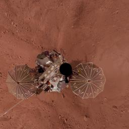 Phoenix Lander Self Portrait on Mars, Vertical Projection