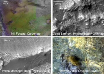 Four Types of Deposits From Wet Conditions on Early Mars