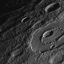 Peak-Ring Basin Close-Up from the Second Mercury Flyby