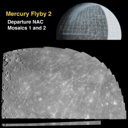 Departure Mosaics from the Second Mercury Flyby