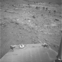 Spirit Solar Panel on Sol 1813, Still Very Dusty