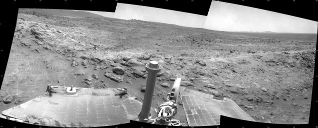 Spirit Beside 'Home Plate,' Sol 1809